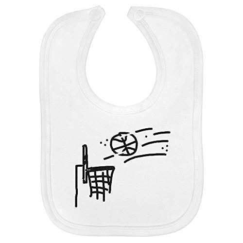 Azeeda 'Basketballkorb' Baby Lätzchen (BI00018780)