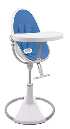BLOOM Fresco Chaise contemporaine pour bébé Cadre blanc avec kit de démarrage Riviera Bleu