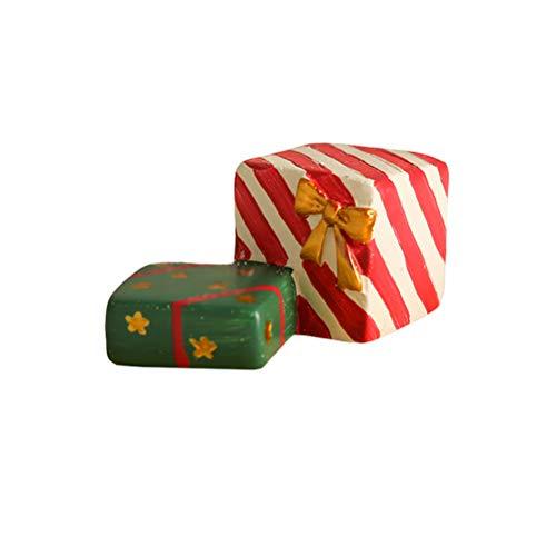 Sarplle árbol de Navidad/Caja de Regalo Adorno de Acuario Resina de Acuario Adorno de Paisaje Creativo decoración de paisajismo para Acuario pecera