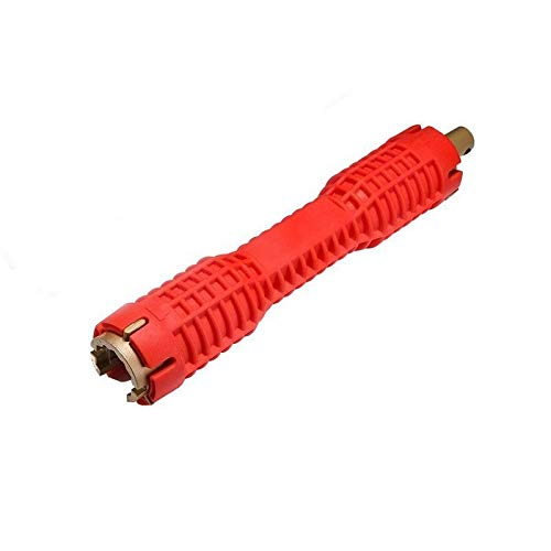 IUEFINUEN Multiusos Fontanería Herramienta de instalación del Fregadero Grifo Herramienta Llave de Tubo de alimentación del Taladro de buje Grip trinquete Clave Llave mágica Gator (Color : Red)