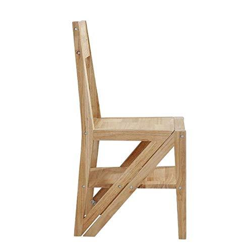 FKB@ED Trittleiter Für Erwachsene Multifunktions Klappleiter Stuhl Holzhaus Regal
