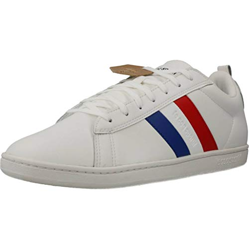 Le Coq Sportif Herren Courtclassic Flag Sneaker, Optisch Weiß, 42 EU