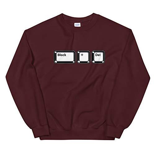Natural Verve Retro Keyboard Block + Delete Boujee Meme Sweatshirt