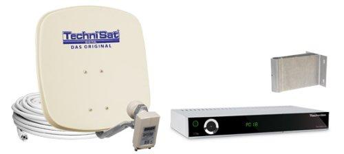 TechniSat DigiDish 45 Zweiteilnehmer-Set inkl. TechniStar S1 Receiver beige/Silber