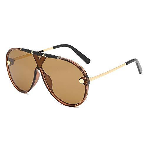 PZXY Sonnenbrillen Einteilige Herren- und Damenmode-UV-Schutzbrille für Laufen, Radfahren, Angeln und leichte Brille