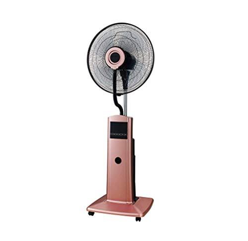 LJYY Ventilador de Pedestal para construcción de fábrica Spray Ventilador Industrial Nebulización de Agua Humidificación Refrigeración Comercial con polea 100 Watts Oro Rosa