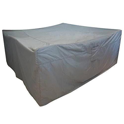 FUCNEN Funda protectora para muebles de jardín cuadrada rectangular para banco sillas sofá cubo muebles de ratán resistente al viento impermeable antiUV 250x250x90CM 420D Fundas para muebles de jardín