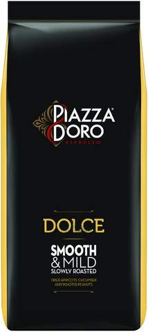 PIAZZA D'ORO Espresso DOLCE, mild, koffeinhaltig, ganze Bohne, Beutel, 6 x 1 kg (6 kg)