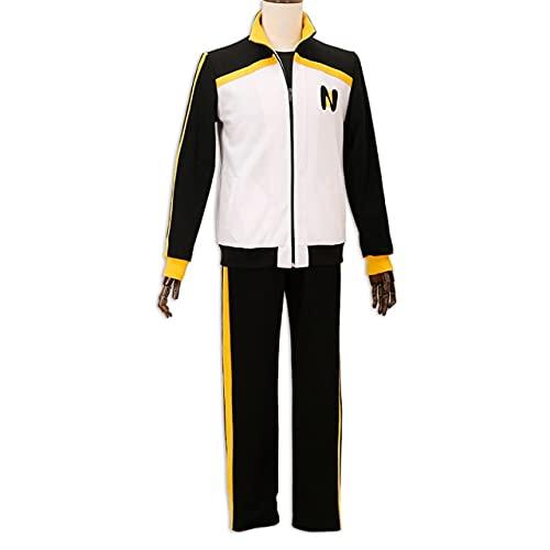 Re: Zero Kara Hajimeru Isekai Seikatsu Abrigo con Cremallera Pantalones Trajes Anime Subaru Natsuki Disfraz de Cosplay Ropa Deportiva Uniforme - Abrigo y pantalón, XL, Hombres