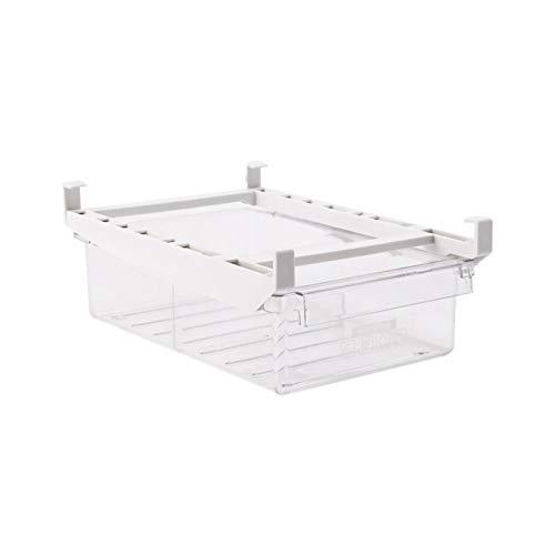 iBaste Cajón organizador extraíble para frigorífico, caja de almacenamiento para huevos, organizador de cocina, transparente, para congelar frutas y verduras