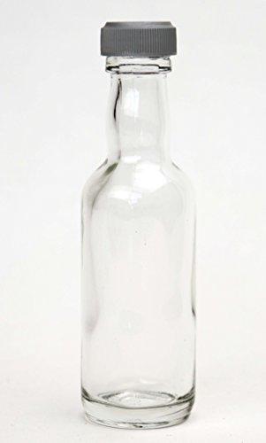 Nutley 's 50 stuks miniatuur flessen met zilveren deksel, transparant, 10 x 20 x 20 cm