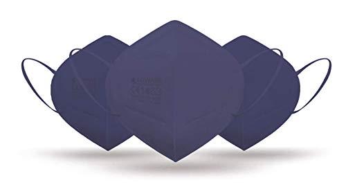 CE zertifizierte - nach EN149:2001+A1:2009 geprüfte Einweg FFP2 NR Atemschutzmaske - Blau - 10er Packung