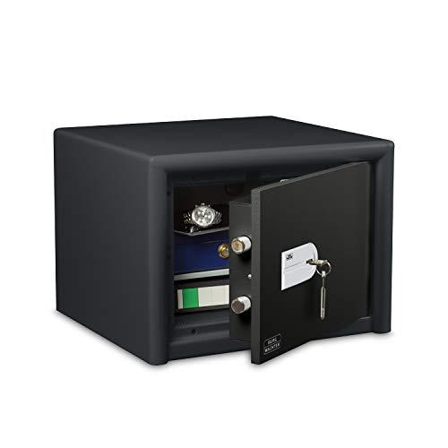 BURG-WÄCHTER Möbeltresor mit Schlüssel, Combi-Line, Sicherheitsstufe S2, Feuerschutz LFS 30 P, VdS-geprüft, 27 l, 55 kg, CL 420 K, Schwarz