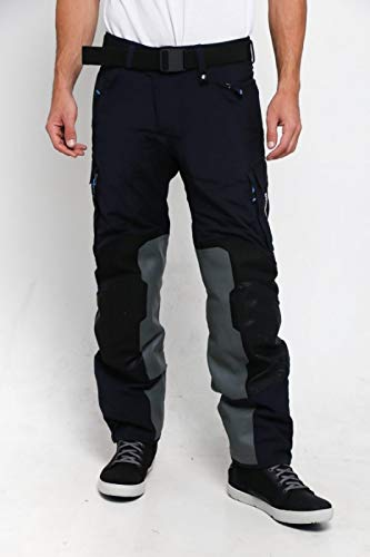 BMW Pantalones de moto Rallye, color negro y azul, tallas BMW 56