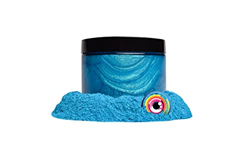 "Eye Candy Mica Powder Pigment ""Okinawa Blue"" (50g) Multipurpose DIY Arts and Crafts Additive   Natural Bath Bombs, Resin, Paint, Epoxy, Soap, Nail Polish, Lip Balm"