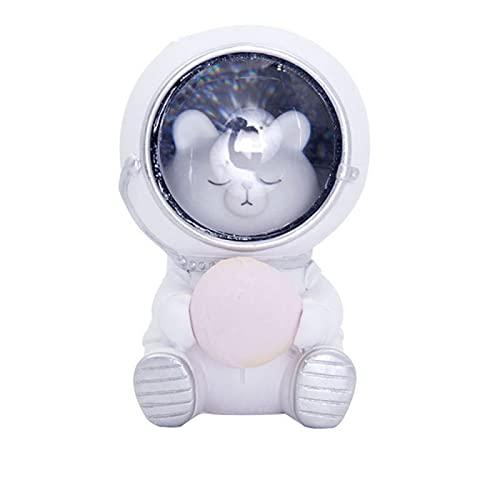 YILUXIANG Guardián de animales estrellados,Linda mascota Astronaut Night Light,Bebé dormitorio adornos decoración luces oso