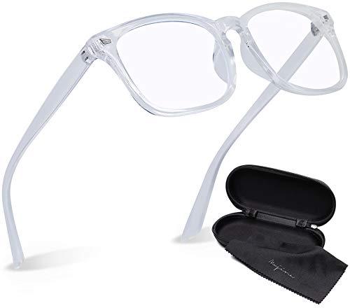 mujina ブルーライトカットメガネ JIS検査済み メガネ ブルーライトカット 96% UV420 紫外線カット PCメガネ 眼鏡 (クリア)
