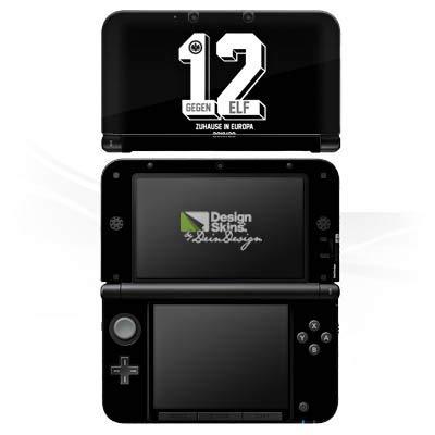 DeinDesign Skin kompatibel mit Nintendo 3 DS XL Folie Sticker SGE Eintracht Frankfurt Zuhause in Europa