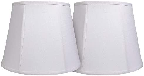 Double Tootoo Star White Lamp Shade Set of 2 Large Drum Lampshade for Floor Light and Table product image