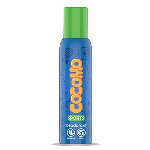 Cocomo Sport Deodorant For Boys With Tea Tree & Passion Fruit Natural & Safe Deodorant for Tweens & Teens -150 ml
