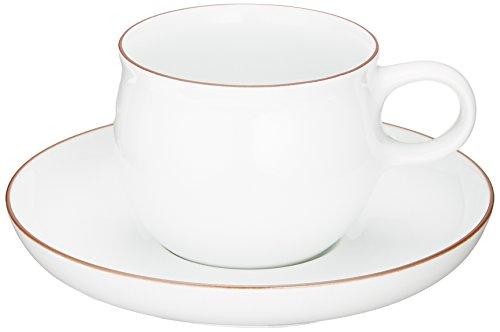 白山陶器のロングセラー商品です。1970年にはグッドデザイン賞を受賞しました。すっきりと無駄がないフォルムに、チャーミングな丸い取っ手がおしゃれですね。シンプルで機能的なデザインだからこそ長く愛されてきたのでしょう。ご自分用にはもちろん、大切な方へのプレゼントにもおすすめしたいカップ&ソーサーです。カップサイズ8cm×10.5cm×6.5cm、ソーサーサイズ14.5cm×2.5cm。電子レンジ、食洗器OK。