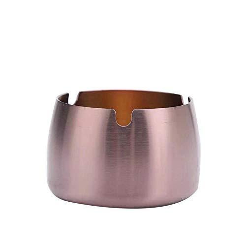 Asbak van roestvrij staal voor de woonkamer grote asbak van metaal met creatieve persoonlijkheden tegen lekken. 7 * 8 * 4.7cm A3.