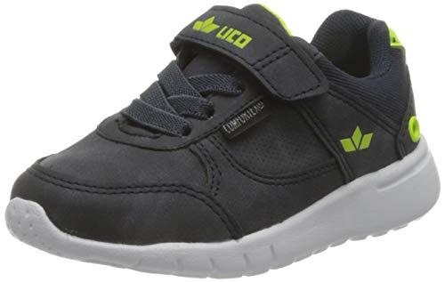 Lico Mat VS Sneaker Jungen, Marine/ Lemon, 35 EU