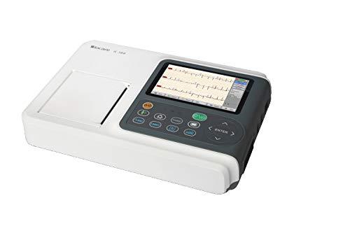 ECG 3 PISTE IE300 BIOCARE CON CALCALLO DEI PARAMATORI E INTERPREZIONE + TRASPARENTE PDF PAR USB
