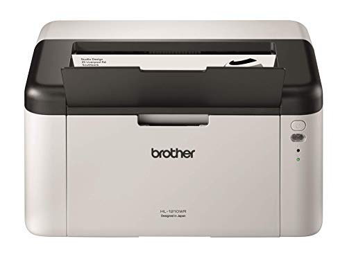 Brother HL-1210W Mono Laser Printer - Single Function, Wireless/USB 2.0, Compact, A4 Printer, Small Office/Home Printer, White
