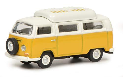 Schuco 452644400 VW T2a Camper, 1:87 452644400-VW, gelb/weiß, Modellauto, Modellfahrzeug
