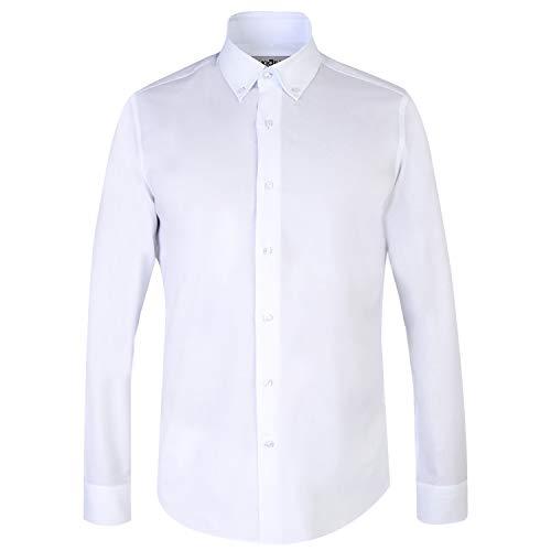 kiğili Men Shirt Slim Fit Long Sleeve Premium White Cotton Non-Iron Plain Navy Blue Shirts Autumn Winter Formal Casual Button Down Oxford Shirts Classic Mens Lilac Fit Night Dress Tops Shirts