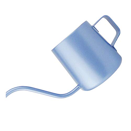 HshDUti 250 / 350ml Hause Lange Schmale Tülle Tropf Kaffeekanne Gooseneck Wasserkocher Mit Griff Light Blue 250ml