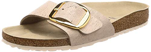 BIRKENSTOCK Madrid Big Buckle Damen Sandalen Gold, Washed Metallic Rose Gold, 40 EU
