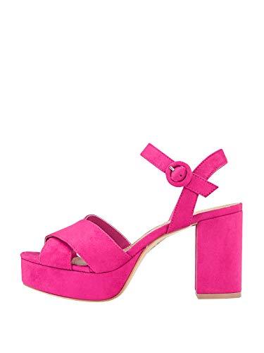 Marypaz, Sandalen mit breitem Absatz für Damen, Rosa, Pink - fuchsia - Größe: 38 EU
