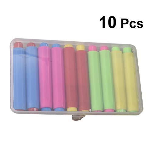 YeahiBaby Titular de Tizas Coloreado y Caja de Almacenamiento para Escuela y Oficina 10pcs (Color Aleatorio)