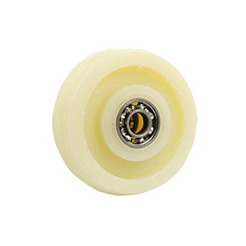 IIVVERR Roda giratória de plástico para carrinho de compras com marfim de duplo rolamento de esferas(Carrito de la compra Rueda giratoria de plástico con doble cojinete de bolas de marfil