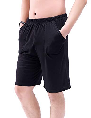 besbomig Pantalones de Pijama para Hombre Oversize Pantalones Cortos de Deporte Elástico Pijamas Inferiores Pantalones De Estar por Casa