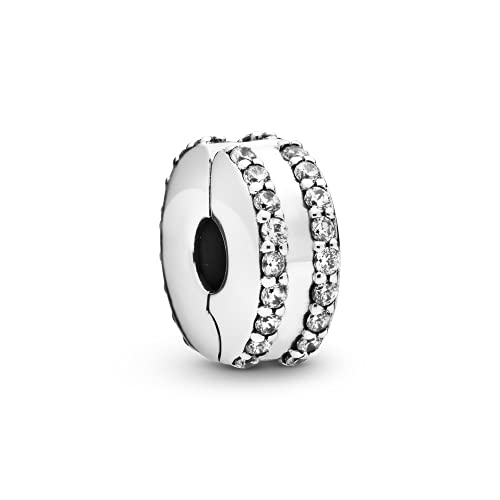 Pandora 925 ciondolo in Argento Sterling FAI da te traforato Sole, Stella e Luna Charms misura Originale braccialetto gioielli in Argento