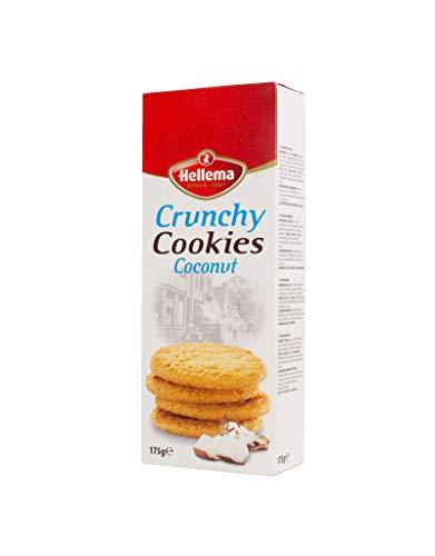 Hellema Crunchy Kokos Koekjes Roasted Coconut Cookies – Koek met Verrassend veel Kokos erin – 175 gram doosje