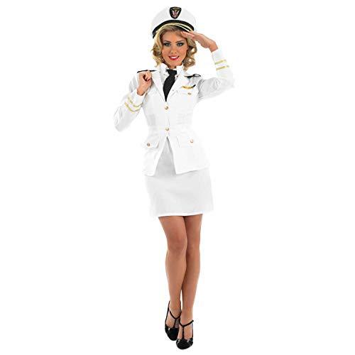 fun shack Womens Navy Captain Costume Adults Naval Officer Uniform Suit - Medium