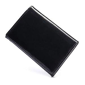 名刺入れ 名刺ケース 本革 メンズ(ブラック)