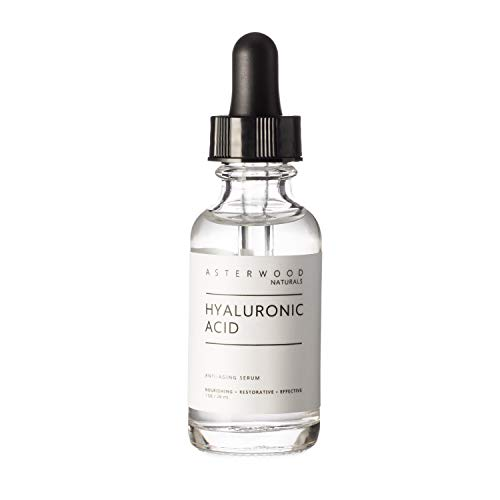Hyaluronic Acid Serum 1 oz, 100% Pure Organic HA, Anti Aging...