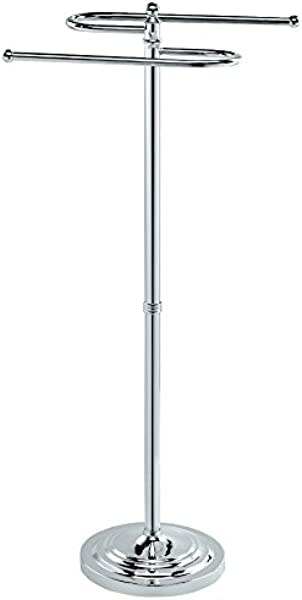 Gatco 1505 38 S Shaped Towel Stand In Polished Chrome