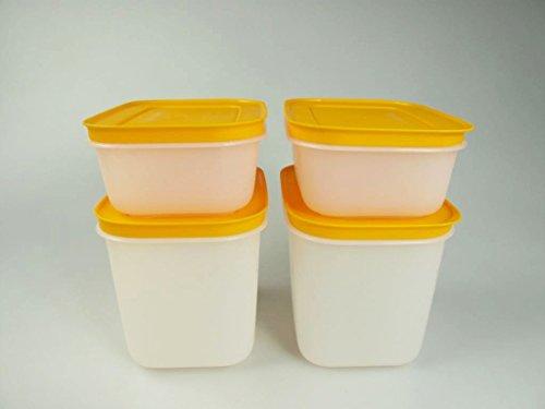 TUPPERWARE Gefrier-Behälter 450 ml (2)+1,1L (2) Eis-Kristall Eiskristall orange 29493