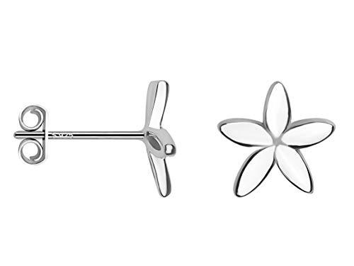 SOFIA MILANI Damen Ohrringe Ohrstecker Blume Silber 20618
