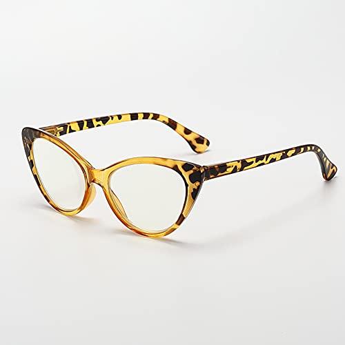 LGQ Gafas de Lectura con luz Anti-Azul para Hombres y Mujeres, Lentes de Resina asférica, Gafas de visión HD antifatiga,Amarillo,+1.50