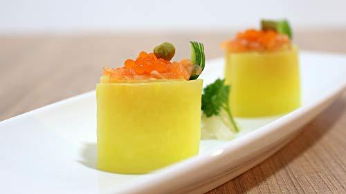 Gunkan maki sushi y gyozas de carne