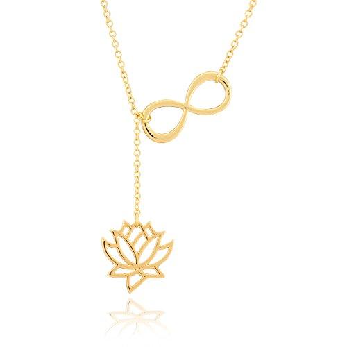 Collar Selia Diseño Origami Flor de Lotus Infinito/ Colgante Infinito Lotus / Cadena con Declaración Minimalista