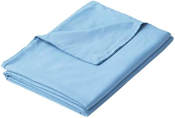 PANDAHOME Premium Polyester Microfiber Removable Professional Duvet Cover For Weighted Blanket Blue 48x72 Inch Duvet Cover ONLY