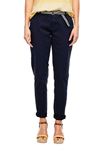 s.Oliver Damen Relaxed Fit Hose, 5835 Dark Steel Blue, 44W / 32L